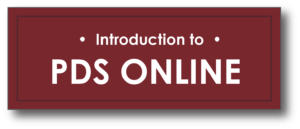 Introduction to PDS Online